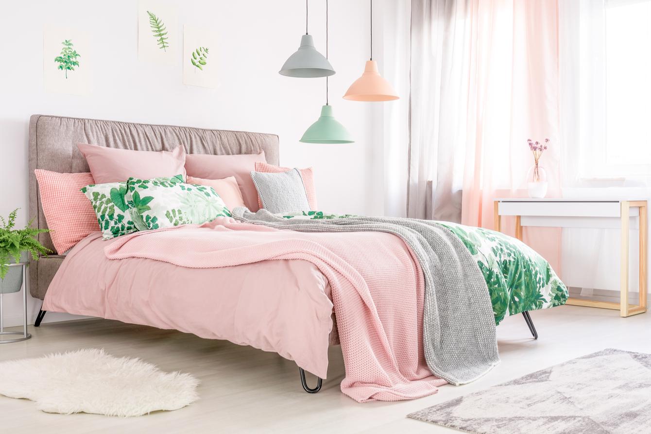 arctic lenjerie de pat cu imprimeu floral