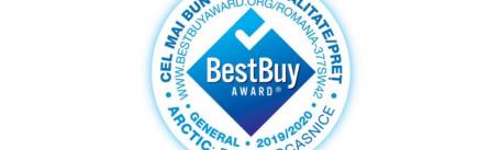 Am primit certificarea Best Buy Award pentru brandul de electrocasnice care ofera cel mai bun raport calitate-pret