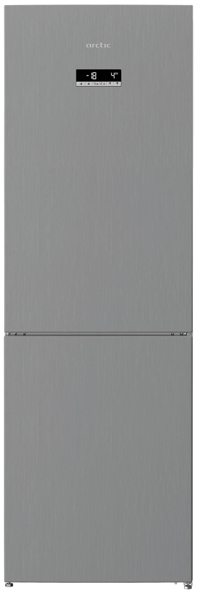 Combina frigorifica, Arctic, AK60366E40NFMT, 348 l, E, H 185,2  cm, Metal Look