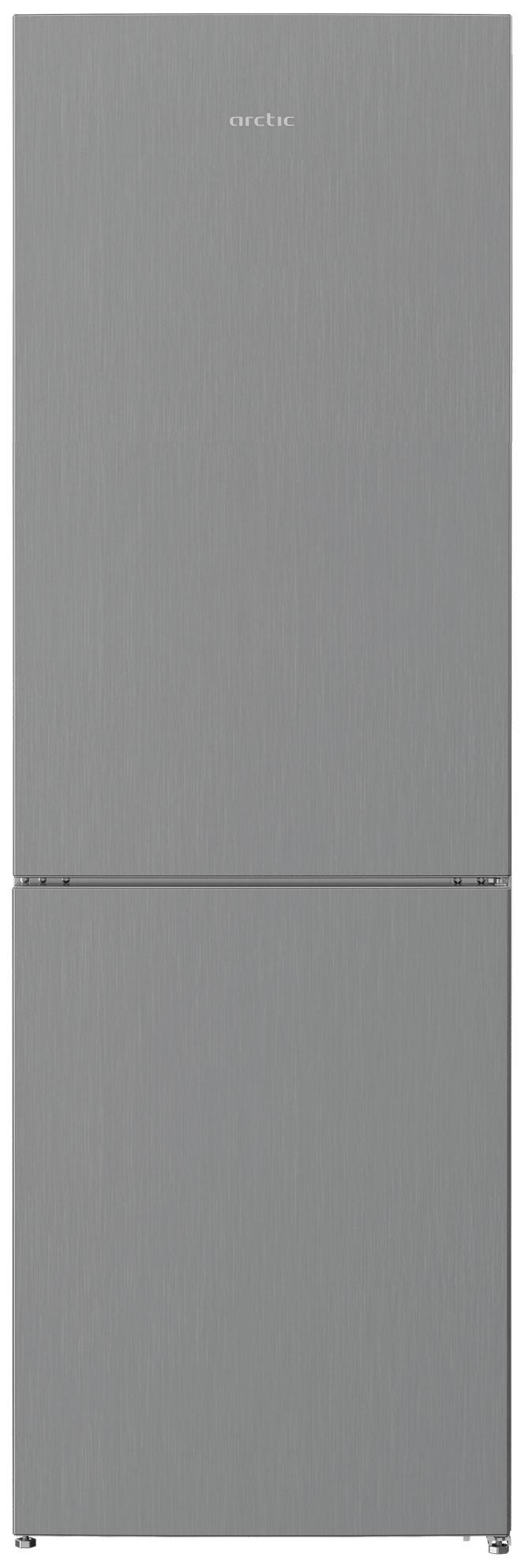 Combina frigorifica, Arctic, AK60366M30NFMT, 324 l, Clasa F, H 185,2  cm, Metal Look