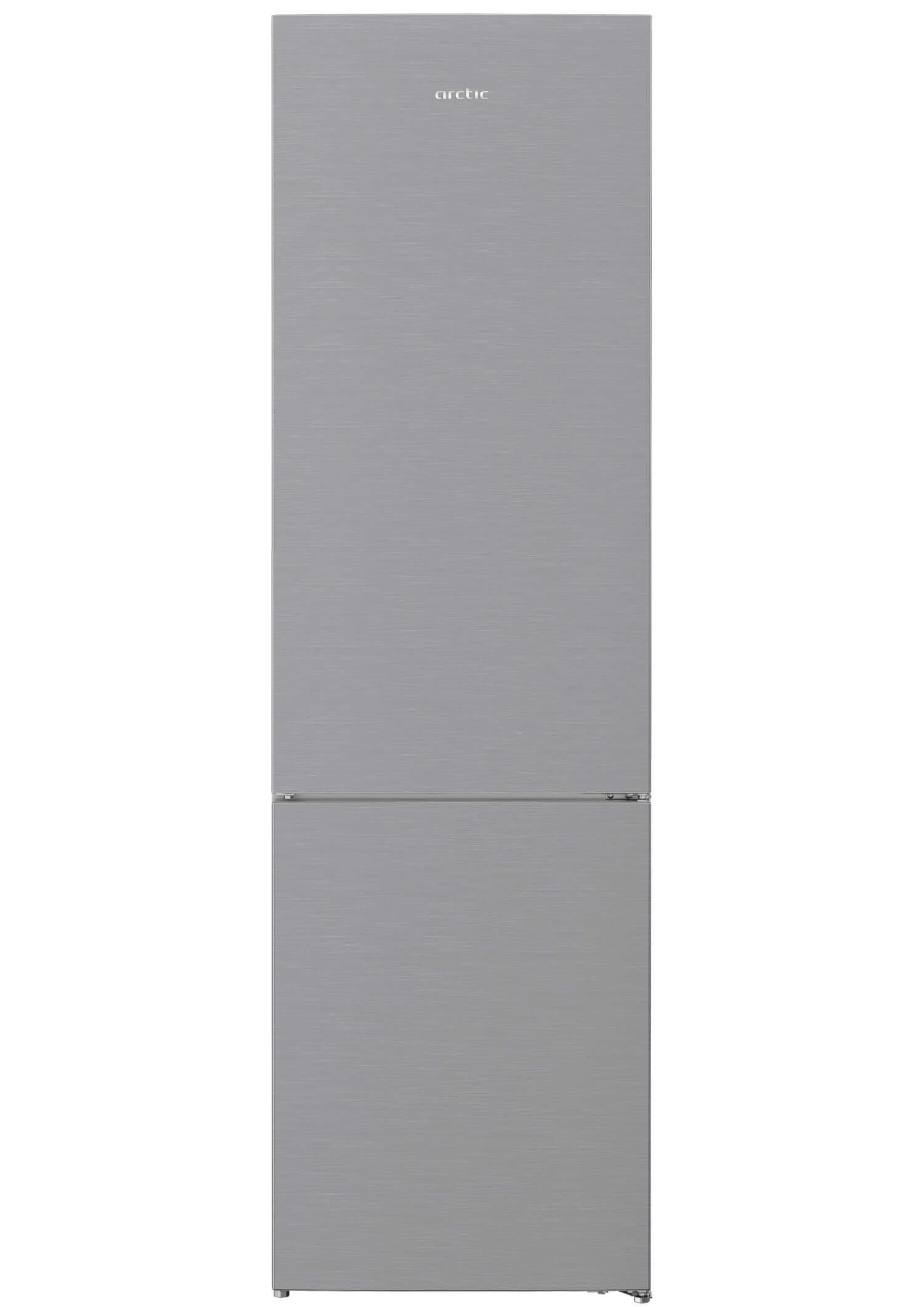 Combina frigorifica, Arctic, AK60406M40NFMT, 362 l, Clasa E, H 202,5  cm, Metal Look