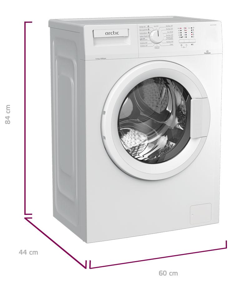 Masina de spalat rufe , Arctic, APL61015XLW0, 6 kg, 1000 rpm, Clasa E, Alb